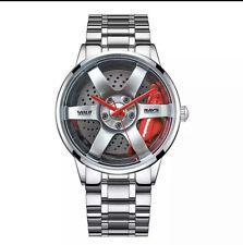 Male Wrist Watch Motorsport Car Rim. Custom Design.