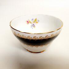 Majestic Sugar Bowl JAS. I. TAYLOR Fine Bone Chine, Black & Gold - Beautiful