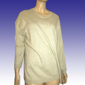 New DKNY Cotton/Linen Sweater Top Pullover $135 Super Soft & Cuddly in Oatmeal
