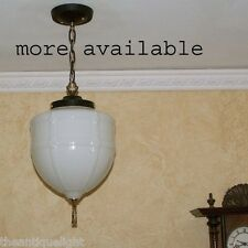 733 Vintage 20s Ceiling Light Lamp Fixture Glass pendant hall porch gothic 1of 6