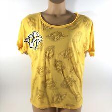 Concepts Sport NASHVILLE PREDATORS NHL Hockey T-Shirt Yellow Women's Medium M