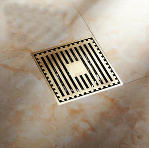 Antique Brass Square Shape Bathroom Floor Drain Waste Grate Shower Drain 2hr026