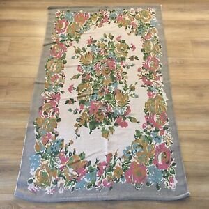 Urban Outfitters Cotton Rug Floral Vintage Retro