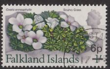 c336) Falkland Islands. 1971. Used. SG 271 6p on 1/-.Flowers