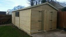 20x10 19mm Apex Tanalised EXTRA HEIGHT Shed