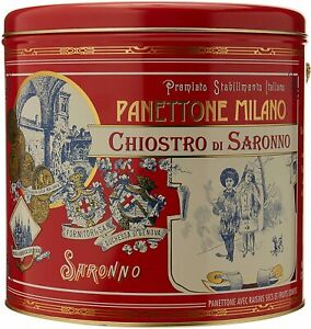 Chiostro di Saronno Authentic Panettone in Tin (Original) 1KG - DAMAGED TIN