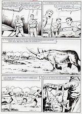 MELLIES : BIGGLES EN AFRIQUE SUPERBE PLANCHE ORIGINALE ARTIMA PAGE 71