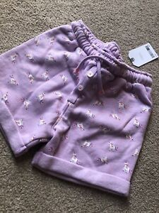 Next Unicorn All Over Print Lilac Girls Shorts Jersey 4-5 Years