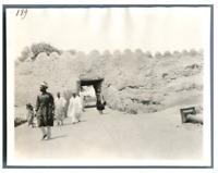 Nigeria, Kano, Porte de la ville indigène  Vintage silver print. Série de photos