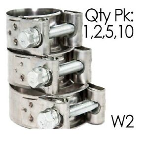 Pack of 1,2,5,10   NORMA GBS W2   Stainless Steel   T Bolt Hose Clip   Clamp