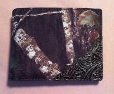 Camouflage Men's  Bifold  Black Brown  Leather Wallet