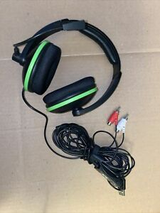 Turtle Beach Ear Force XL1 Gaming Headset XBox 360 Black & Green Amplified