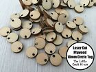15 x 10mm Wooden Circle Tag Laser Cut Shape Ply Blank Craft Circles Wood Shapes