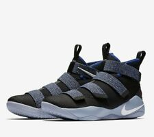Nike Lebron Soldier XI Mens Basketball Shoes 11 Black White Royal 897644 005