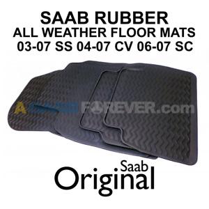 SAAB 9-3 Winter RUBBER Floor Mats 03-07 OEM 32026121 NEW 93 ALL WEATHER MAT SET