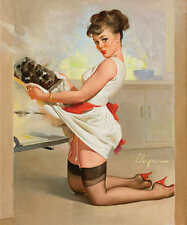 /'A REFRESHING LIFT/' 1969 GIL ELVGREN VINTAGE PIN UP GIRL POSTER PRINT 36x30 9MIL