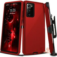 For Samsung Galaxy Note 20 Ultra Hard Case Belt Clip Fits Otterbox Defender Red
