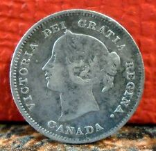 Very Nice Better Grade 1896 Silver 5 Cent Coin from Canada KM# 2