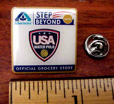 Olympic USA Water Polo Team Logo Albertsons Official Grocery Store Patriotic Pin