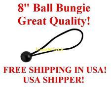 "100  8"" BLACK Ball Bungie Bungees Bungee Canopy Tie Down Tarp FREE USA SHIP!"