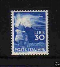 "ITALIE 1945-48  Y&T 501 ""FLAMBEAU 30 L BLEU"" NEUFxx TTB"