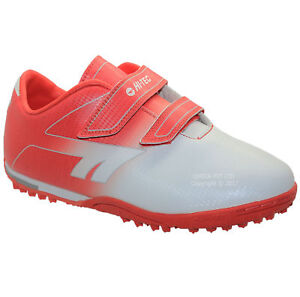 NEW BOYS ASTRO TURF TRAINERS KIDS RED FOOTBALL BOOTS SHOES SPORTS UK SIZE 3-6
