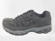 77055 4E WIDE Skechers Men's Cankton Work Shoes Steel Toe,EH  Black/Charcoal