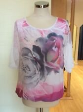Bianca Top Size 10mBNWT Ivory Pink Grey Sheer Layered RRP £84.95 Now £38