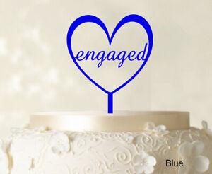 Monogram Wedding Cake Topper Custom Blue Cake Topper Color Option-gUt
