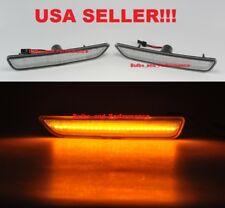 2010 2011 2012 2013 2014 Ford Mustang Clear Lens Amber LED Front Side Markers