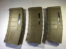 3 PCS BATTLEAXE M4/M16 300rds P-MAG Magazine set for Airsoft AEG CA G&P (Tan)