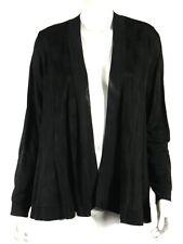 GIORGIO ARMANI Black Checkered Knit Jacquard Open Cardigan Sweater 40