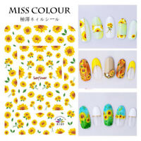 Mixed Ultra-thin Leaf Rose Daisy Sunflower Flowers Nail Polish Nail Art Sticker