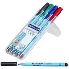 Staedtler Lumocolor Correctable 305mwp4 Dry Erase Pen 10 Mm Medium 4 Color Set