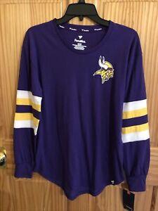 Vikings Large LS Tshirt Womens Minnesota Football Retail $40 (apt-3042)