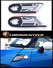 MINI Cooper R55 R56 R57 R58 R59 Black Union Jack Chrome Side Scuttles REPEATER