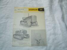 Caterpillar D9 D 9 tractor specification sheet brochure