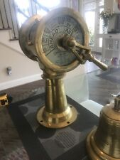 Vintage Chadburn Telegraph Brass Engine Order Antique Maritime Collectible  Rare
