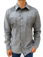 55DSL Diesel Men's Grey Denim Style Western Shirt Size XL #4147