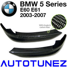 Carbon Fiber Front Bumper Splitters Lip BMW E60 E61 5 Series Car Side Fin