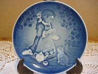 """1985 Bing & Grondahl Royal Copenhagen Barnet's Dag Children's Day Plate 5"""""""