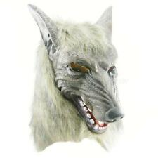 White Halloween Cosplay Realistic Werewolf Adult Wolfs Masks Latex Costume Prop
