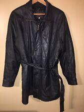 moda italy bellagio mens leather coat Size M