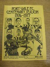 10/01/1977 Port Vale V Hull City [FA Cup replay] (cuatro páginas, Arruga/doble de).