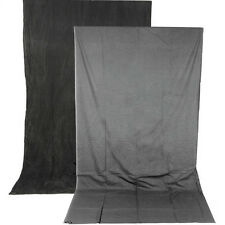 Impact Reversible Crushed Muslin Background (10 x 24', Charcoal/Smoke Gray)