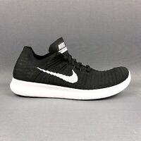 Nike Free RN FlyKnit Running Shoes Black White 831070-001 Women's Size 9