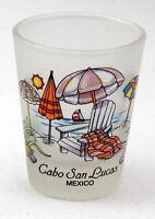 CABO SAN LUCAS MEXICO BEACH CHAIRS SHOT GLASS