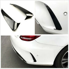 2Pcs Car Rear Bumper Air Vent Sticker Cover For Mercedes Benz C Class W205 Sedan