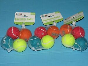t5 Outward Hound Squeaker Ballz Fetch Dog Toy, Small- 3 x 4 (12) Pack Small