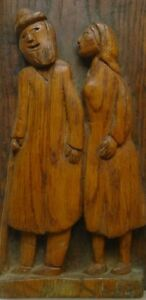 KOSSO ELUL Couple Rabbi Early Sculpture Russia Israel Canada Art Jewish Judaica